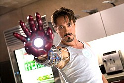 Robert Downey Jr. plays a boy-genius inventor who creates a crime-fighting alter ego.