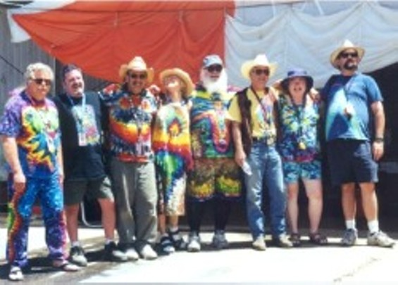 Rock Med staff bust out the tie-die at the 2002 Mountain Aire Festival