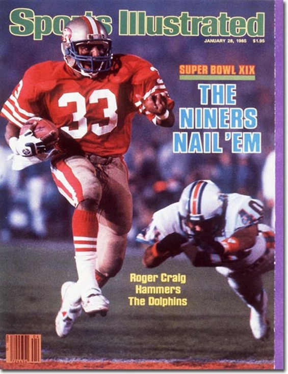 Roger Craig has gone from beating The Fish in Super Bowl XIX to catching them on TV