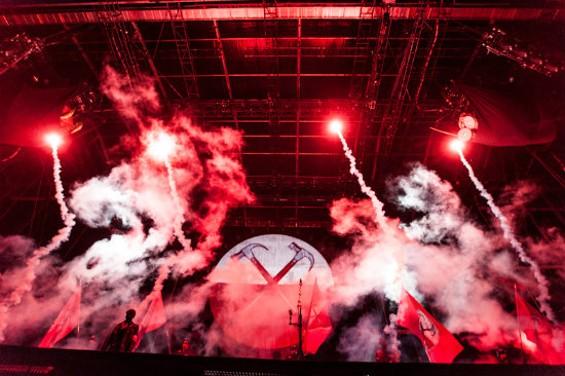 Roger Waters' The Wall at AT&T Park on Friday. - RICHARD HAICK