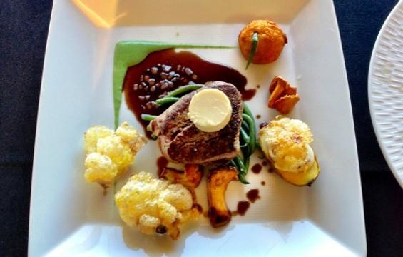 Roland Passot's wagyu beef tenderloin. - ALEXANDER GEORGE