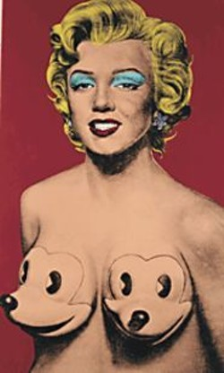 Ron English's vision of Marilyn.