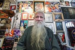 MIKE KOOZMIN - Ron Turner in his gallery of oddities.