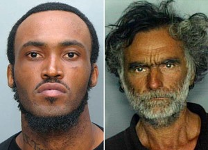 Rudy Eugene, left, is accused of gnawing the face off Ronald Poppo