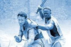 Russell Crowe and Djimon Hounsou in Gladiator: There's simply too much talent here to dismiss the movie.