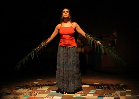 Sabina Zuniga Varela sees into the beyond as the title character of the Magic Theatre's production. - JENNIFER REILEY