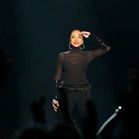 Sade and John Legend at the Oracle Arena