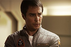 Sam Rockwell plays an alienated astronaut.