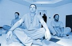 ANTHONY  PIDGEON - San Bruno inmates and Vipassana graduates Greg Carter, James Crowley, and Carlton Allen.
