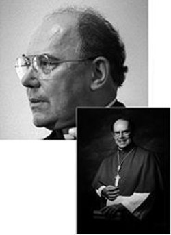 San Francisco Archbishop William J. Levada, then - (above) and now (top): His handling of abuse cases - has drawn the ire of victim advocates.