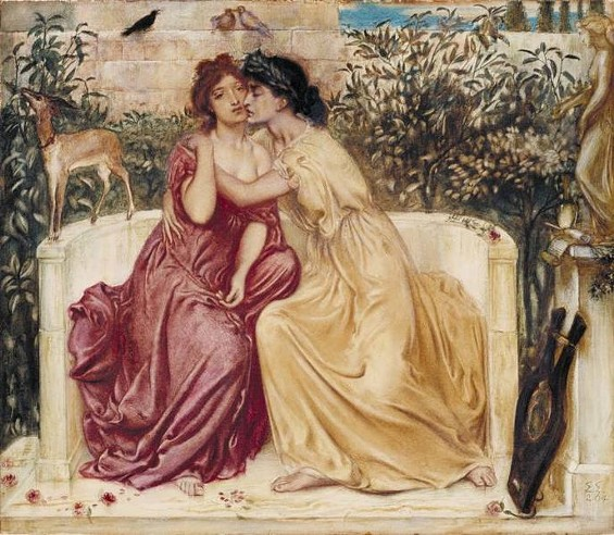 Sappho's sapphic love scandalized even the goats she kept around as decorative props! - SIMEON SOLOMON