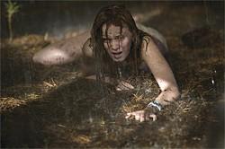 LACEY TERRELL - Sara Paxton crawls away from the sadistic baddies and toward safety.