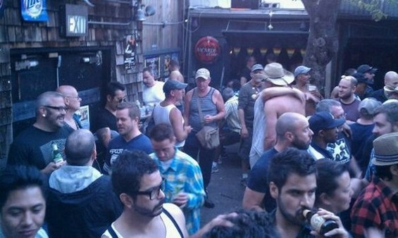 Scene at the Eagle after Pride last year. - BRIAN M./YELP