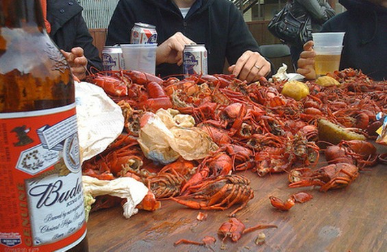 Scene from Yats' crawfish boil in April. - EDCASEY/FLICKR