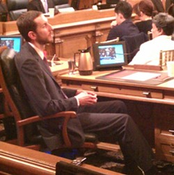 Scott Wiener is too big for his desk -- but not nearly big enough to cross a picket line