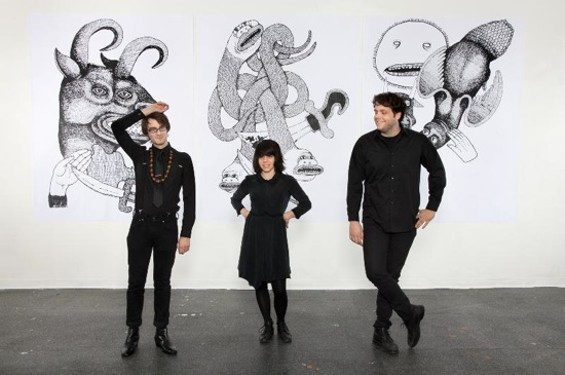 Screaming Females, from left to right: Jarrett Dougherty, Marissa Paternoster, and King Mike