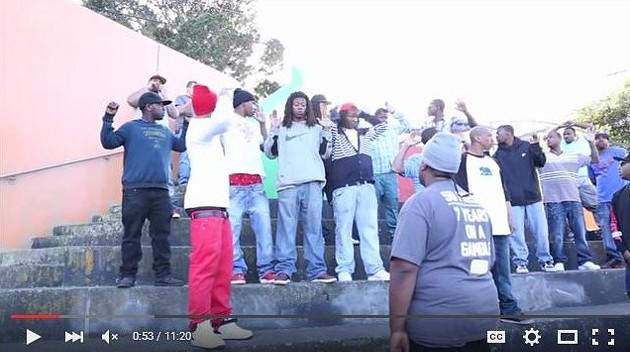 Screenshot of the video of SFPD raiding Yung Lott's video shoot - SCREENSHOT/ YOUTUBE