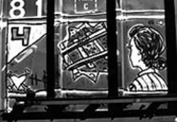 PHOTOBILL - See the Train A-comin': Broke's boxcar art.