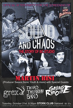 """""""Sound and Chaos"""" screens tonight at Oakland's New Parkway Theater followed by a performance at The Stork Club."""