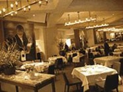 ANTHONY  PIDGEON - Seeing the Forest for the Trees: Redwood Park's - elegant downstairs (pictured) looks rich, but the - simpler upstairs grill offers better fare.