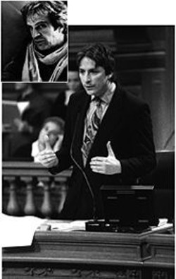 ANTHONY  PIDGEON - Separated at Birth? If he swapped his tie for - a sexy scarf, Gonzalez could almost pass - for Truffaut.
