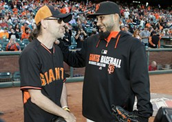 CHRISTOPHER VICTORIO - Sergio Romo had to tell Lars Ulrich he didn't make the team.