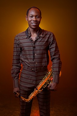 KELECHI AMADIOBI - Seun Kuti follows in the footsteps of his father, the Afrobeat icon Fela Kuti.