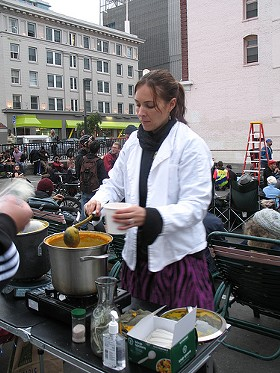 Sexy Soup Lady at the summer's first Bike-In Movie Night. - RHONDAWINTER/FLICKR