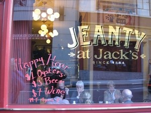 SF institution Jeanty at Jack's closed Friday night