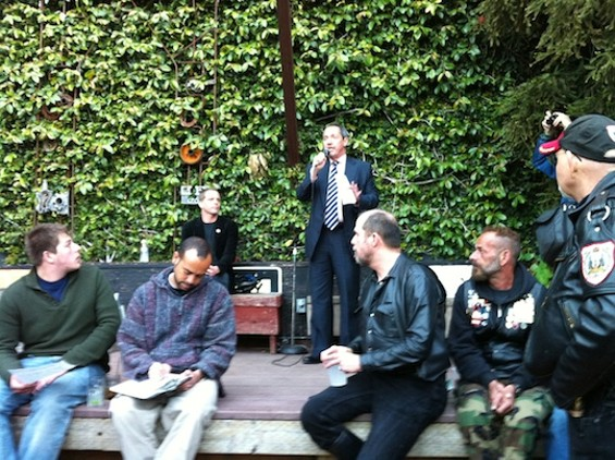 S.F. Supervisor Bevan Dufty speaking at the Eagle last night.