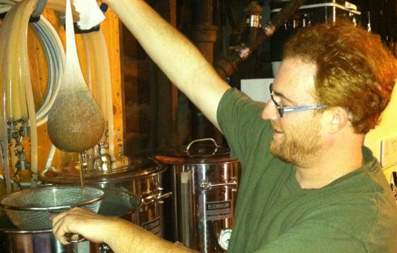 SFHG President Chris Cohen brewing his entry. - JASON HENRY