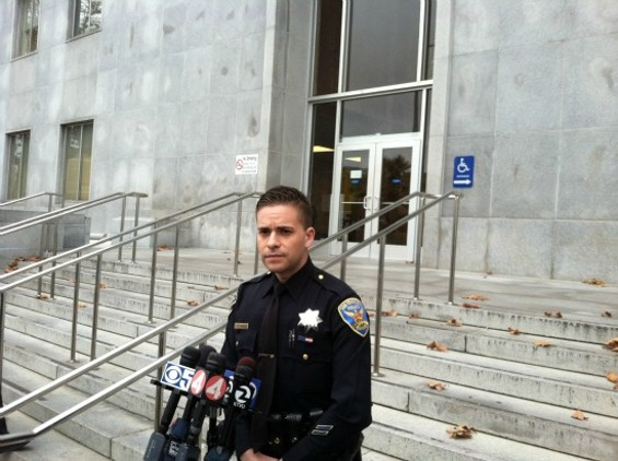 SFPD Officer Albie Esparza announces arrests in Stephen Reid murder - COBURN PALMER