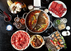 MELISSA BARNES - Shabu Pub makes an extravaganza of all you can eat.