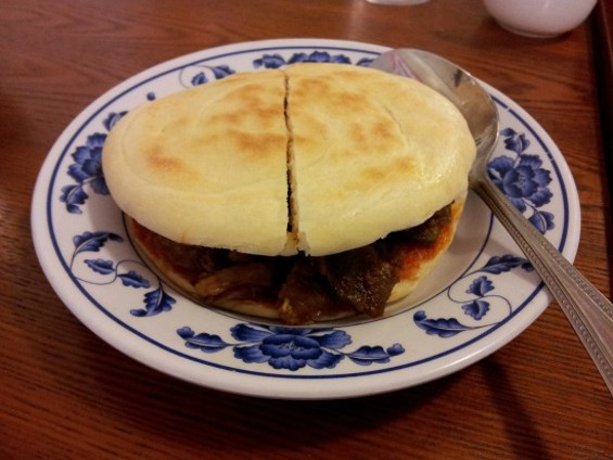 Shanxi sandwich with cumin lamb - PETE KANE