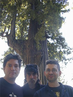 Shellac (left to right): Bob Weston, Todd Trainer, and Steve Albini.