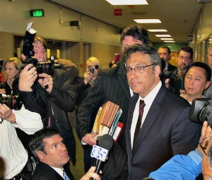 Sheriff Ross Mirkarimi after yesterday's arraignment - PETER JAMISON