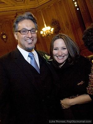 Sheriff Ross Mirkarimi and his wife, Eliana Lopez - LUKE THOMAS, FOG CITY JOURNAL