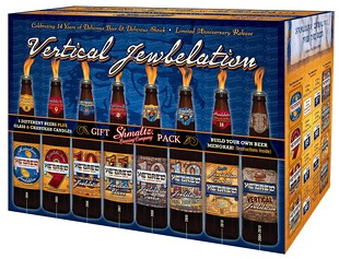 Shmaltz's gift pack ― the bottles can double as a menorah.