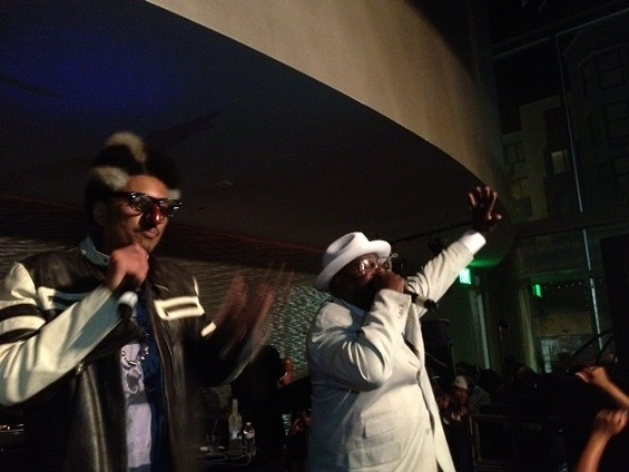Shock G and surprise guest George Clinton. - TAMARA PALMER