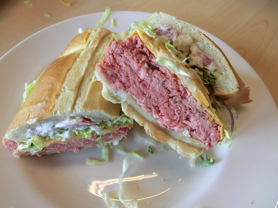 "Shocker! The roast beef sandwich at Jersey's on 6th is called ""the roast beef sandwich."" - ALEX HOCHMAN"