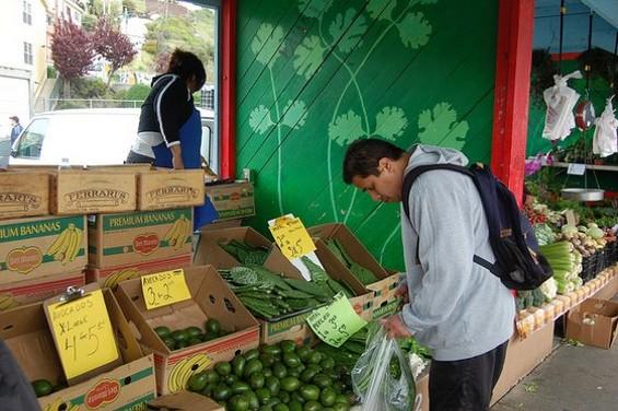 Shopping at Alemany Market. - STU SPIVACK