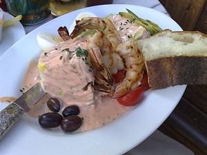 Shrimp Louis, the San Francisco treat. - T. PALMER