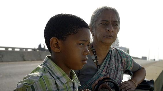 Sihle Dlamini as Lucky, Jayashree Basavaraj as Padma. Still from the film Lucky.