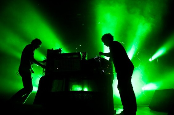 Simian Mobile Disco at the Fox Theater Friday night. - RICHARD HAICK
