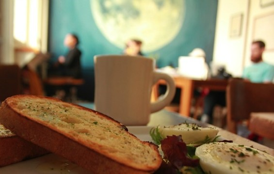 Simple snacks and homey atmosphere at Local 123. - MOLLY GORE