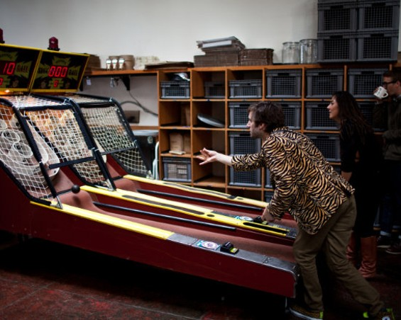Skee ball at Four Barrel's anniversary party last year. - MIKE HENDRICKSON