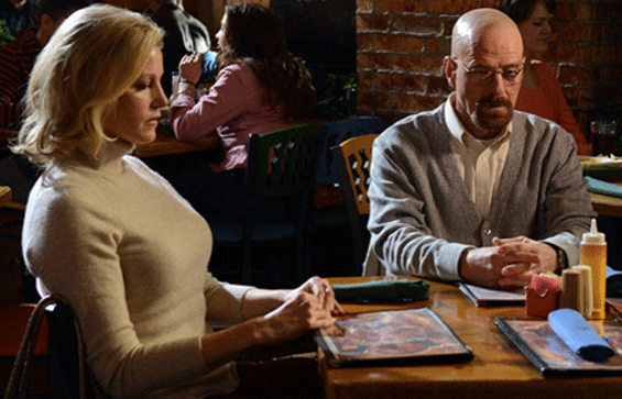 Skyler and Walt regret not getting the table-side guacamole. - PHOTO COURTESY OF AMC.