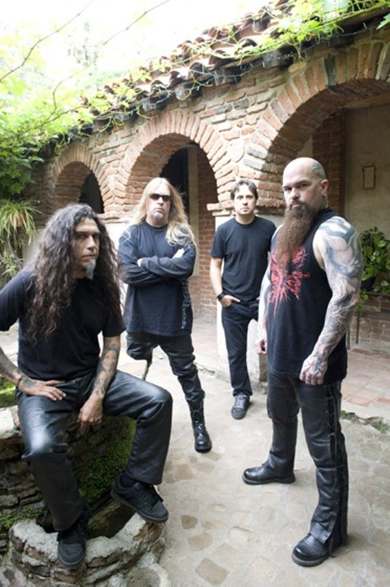 Slayer, with Kerry King at far right - MARK SELIGER