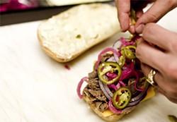 JEN SISKA - Sliced jalapeños add heat to a Korean steak sandwich.