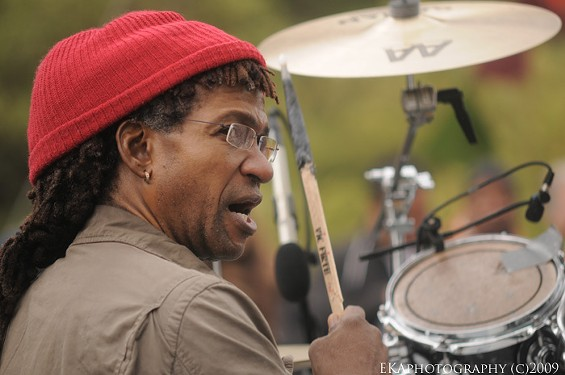 Sly Dunbar of Sly + Robbie - EKAPHOTOGRAPHY COPYRIGHT 2009. ALL RIGHTS RESERVED
